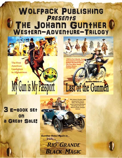 Ebook -  Gunther Western, Action, Adventure Trilogy  from Wolfpack Publishing